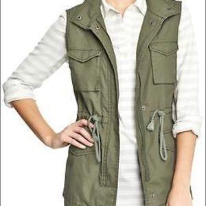 Old Navy Green Jacket Vest, Medium
